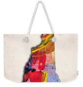 New Hampshire Map Art - Painted Map Of New Hampshire Weekender Tote Bag