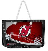 New Jersey Devils Christmas Weekender Tote Bag
