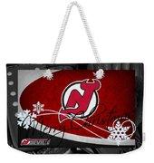 New Jersey Devils Christmas Weekender Tote Bag
