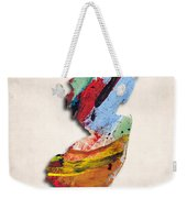 New Jersey Map Art - Painted Map Of New Jersey Weekender Tote Bag