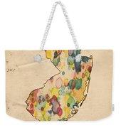New Jersey Map Vintage Watercolor Weekender Tote Bag