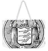 New Jersey State Seal Weekender Tote Bag