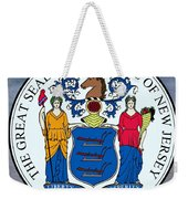 New Jersey State Seal Weekender Tote Bag