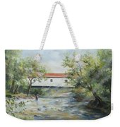 New Jersey's Last Covered Bridge Weekender Tote Bag by Katalin Luczay