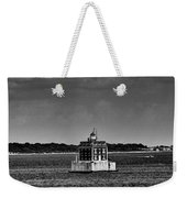 New London Shelf Light Black And White Weekender Tote Bag