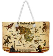 New Map Of The Kingdoms Of Magic Weekender Tote Bag