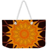 New Media Art Marigold On Mocha Kaleidoscope  Weekender Tote Bag