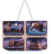 New Mexico Churches In Snow Weekender Tote Bag