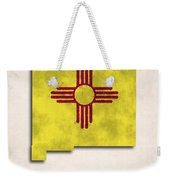 New Mexico Map Art With Flag Design Weekender Tote Bag
