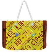 New Mexico State License Plate Map Weekender Tote Bag