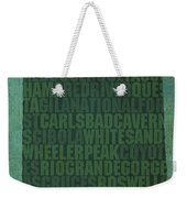 New Mexico Word Art State Map On Canvas Weekender Tote Bag
