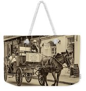 New Orleans - Carriage Ride Sepia Weekender Tote Bag