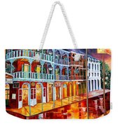 New Orleans Reflections In Red Weekender Tote Bag