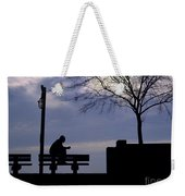 New Orleans Riverwalk Silhouette Weekender Tote Bag
