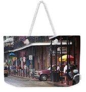 New Orleans Street Scene Weekender Tote Bag
