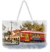 New Orleans Streetcar Paint Weekender Tote Bag