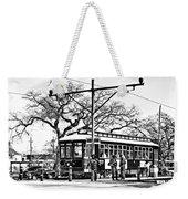 New Orleans Streetcar Silhouette Weekender Tote Bag
