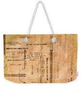 New Post Office Plans 1961 Weekender Tote Bag