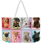 New Puppy Multipic Weekender Tote Bag by Greg Cuddiford