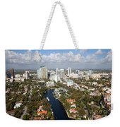 New River And Downtown Fort Lauderdale Weekender Tote Bag
