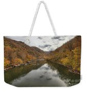 New River Fall Reflections Weekender Tote Bag