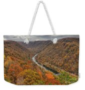 New River Gorge Overlook Fall Foliage Weekender Tote Bag