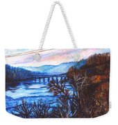 New River Trestle In Fall Weekender Tote Bag