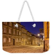 New Town Street And Houses At Night In Warsaw Weekender Tote Bag
