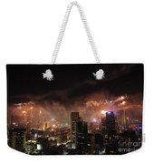 New Year Fireworks Weekender Tote Bag by Ray Warren