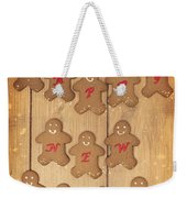 New Year Gingerbread Weekender Tote Bag