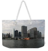 New York And Staaten Island Ferry Weekender Tote Bag