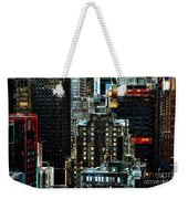 New York At Night - Skyscrapers And Office Windows Weekender Tote Bag