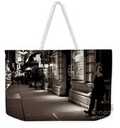 New York At Night - The Phone Call - Theatre District Weekender Tote Bag
