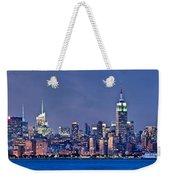 New York Blue Hour Panorama Weekender Tote Bag