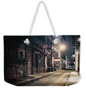New York City Alley At Night Weekender Tote Bag