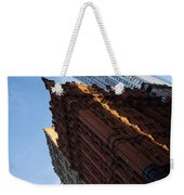 New York City - An Angled View Of The Potter Building At Sunrise Weekender Tote Bag
