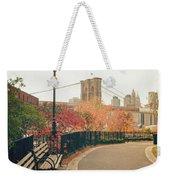 New York City - Autumn - Brooklyn Bridge And Foliage Weekender Tote Bag