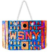 New York City Autumn Street Detail Pop Painting Weekender Tote Bag