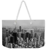 New York City Black And White Weekender Tote Bag