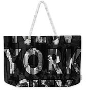 New York City - Black Weekender Tote Bag