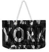 New York City - Black Weekender Tote Bag
