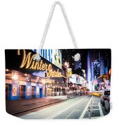 New York City - Broadway Lights And Times Square Weekender Tote Bag