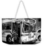 New York City Bus Weekender Tote Bag