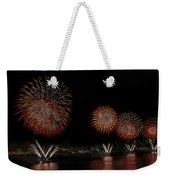 New York City Celebrates The Fourth Weekender Tote Bag by Susan Candelario