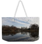 New York City Central Park Bow Bridge Quiet Reflections Weekender Tote Bag