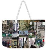 New York City Collage Weekender Tote Bag
