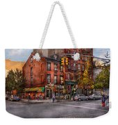 New York - City - Corner Of One Way And This Way Weekender Tote Bag by Mike Savad