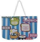 New York City Eatery Weekender Tote Bag