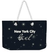 New York City Girl Weekender Tote Bag by Pati Photography