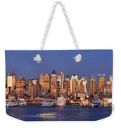 New York City Midtown Manhattan At Dusk Weekender Tote Bag